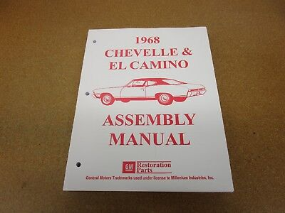 1968 chevelle assembly manual pdf