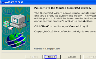 manually download mcafee dat files